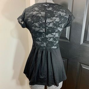 Lace back tshirt